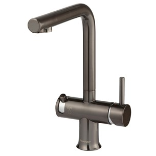 Clearwater Malin Mono Kitchen Mixer with Swivel Spout and Cold Filtered Water - PVD Gunmetal