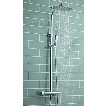 Vellamo Marco Oval Thermostatic Exposed Dual Shower System