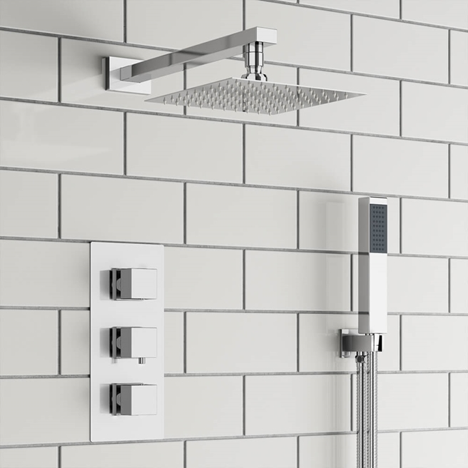 Drench Margot Concealed Shower Valve, Fixed Shower Head & Handset