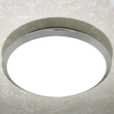 HIB Marius Halogen Lit Circular Light with Chrome Detail and Diffused Shade