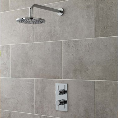 Maui Concealed Thermostatic Shower Valve & ABS Fixed Shower Head