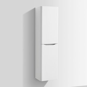Vellamo Maya 1500mm Tall Bathroom Storage Unit - White Ash
