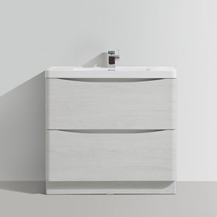 Vellamo Maya 900mm White Ash Floorstanding Vanity Unit & Basin