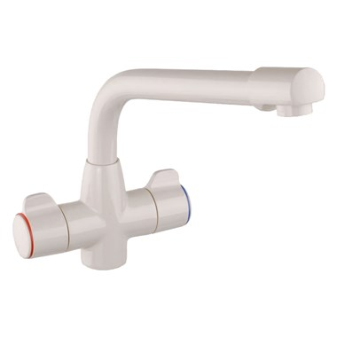 Mayfair Aspen Kitchen Mono Mixer Tap - Pearl White