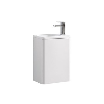 Harbour Glow 400mm Wall Hung Cloakroom Vanity Unit & Basin - Matt White