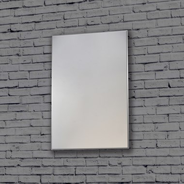 Bathroom Origins Metro Mirror - Polished Steel