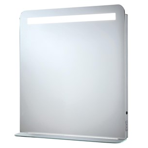 Phoenix Gemini LED Mirror with Demister Pad and Shaver Socket - H70 x W50