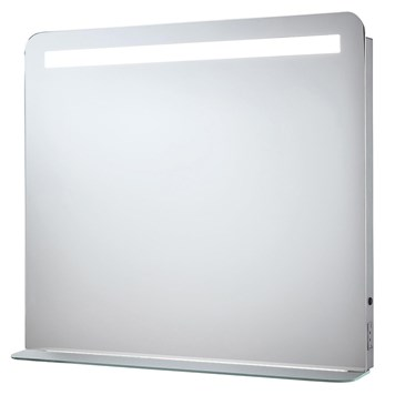 Phoenix Gemini LED Mirror with Demister Pad and Shaver Socket - H60 x W60