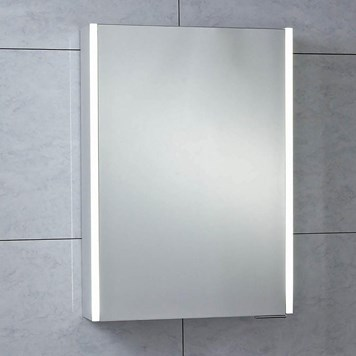 Phoenix Saturn Motion Sensitive LED Single Door Mirror Cabinet with Shaver Socket - 700 x 500mm