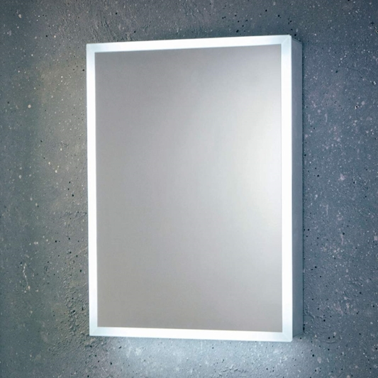Harbour Glow Led Mirrored Cabinet With, Bathroom Mirror Cabinet With Shaver Socket