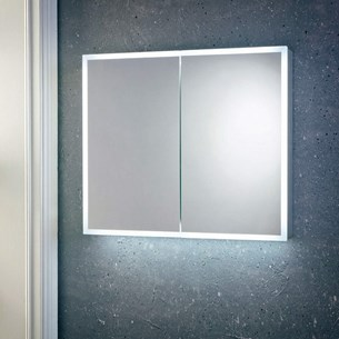 Harbour Glow LED Mirrored Cabinet with Demister Pad & Shaver Socket - 600 x 700mm
