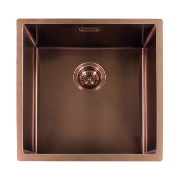 Reginox Miami Single Bowl Inset/Undermount Stainless Steel Kitchen Sink - Copper - 540 x 440mm
