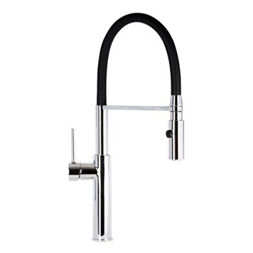 Mayfair Miami Pull Out Kitchen Spray Mixer Tap - Chrome/Black