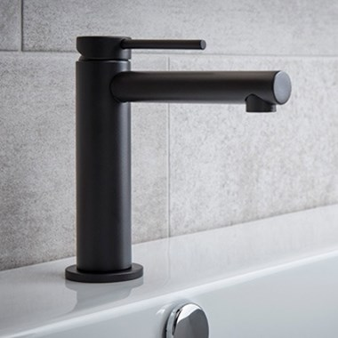 Miller Matt Black Mono Basin Mixer with Pop-up Waste