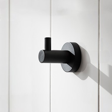 Miller Bond Matt Black Single Robe Hook