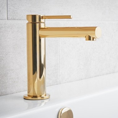 Miller Polished Brass Mono Basin Mixer with Click-Clack Waste