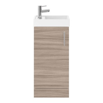 Drench Minnie 400mm Floorstanding Cloakroom Vanity Unit & Basin - Driftwood