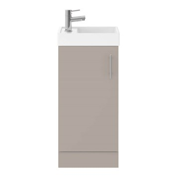 Drench Minnie 400mm Floorstanding Cloakroom Vanity Unit & Basin - Stone Grey
