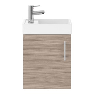 Drench Minnie 400mm Wall Mounted Cloakroom Vanity Unit & Basin - Driftwood