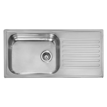 Reginox Minister 10 Single Bowl Stainless Steel Inset Kitchen Sink & Waste - Reversible