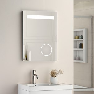 Vellamo Led Illuminated Bathroom Magnifying Mirror With Demister Pad Shaver Socket 700 X 500mm