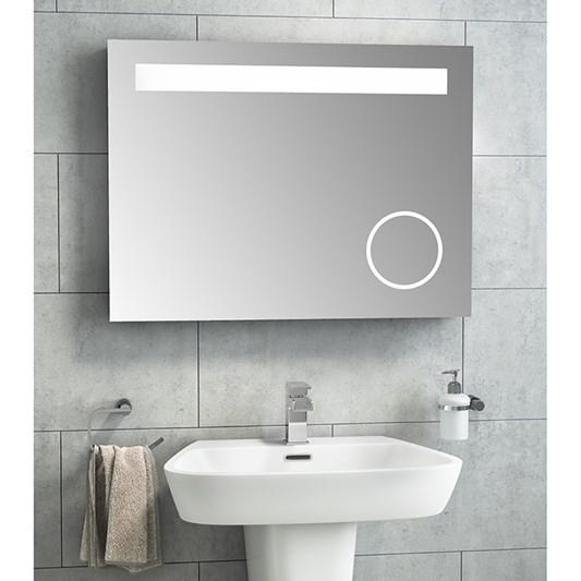 Vellamo Led Illuminated Bathroom Magnifying Mirror With Demister Pad Shaver Socket 600 X 800mm Tap Warehouse