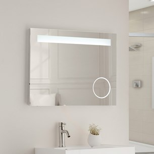 Vellamo Led Illuminated Bathroom Magnifying Mirror With Demister Pad Shaver Socket 600 X 800mm