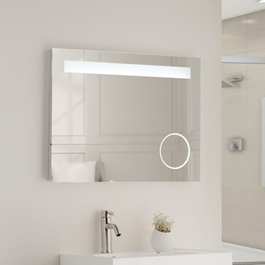 Vellamo LED Illuminated Bathroom Magnifying Mirror with Demister Pad & Shaver Socket - 600mm x 800mm