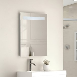 Vellamo LED Illuminated Bathroom Mirror with Demister Pad & Shaving Socket - 700mm x 500mm