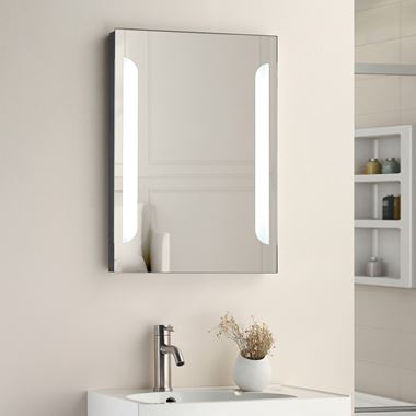 Vellamo LED Illuminated Bathroom Mirror with Shaver Socket & Demister Pad - 700mm x 500mm