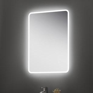 Vellamo LED Illuminated Universal Bathroom Mirror with Demister Pad & Shaver Socket - 700mm x 500mm