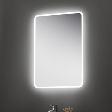 Vellamo LED Illuminated Universal Bathroom Mirror with Demister Pad & Shaver Socket - 700mm x 500mm