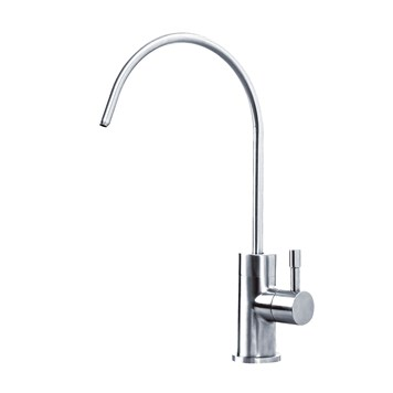 Clearwater Mira Mono Single Flow Filtered Cold Water Tap - Stainless Steel