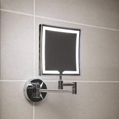 Vellamo LED Illuminated Square Magnifying Wall Mirror