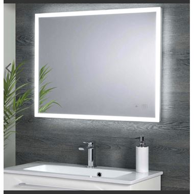 Harbour Glow LED Mirror with Demister Pad & Infrared Touch Button - 800 x 600mm
