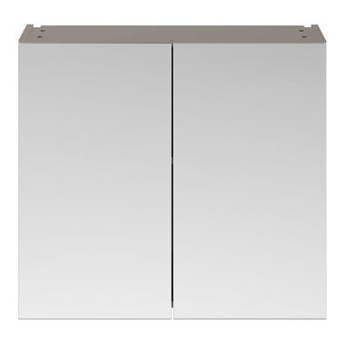 Drench Emily 800mm Mirror Cabinet - Stone Grey