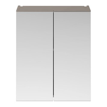 Drench Emily 600mm Mirror Cabinet - Stone Grey