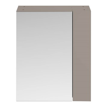 Drench Emily 600mm Mirror Cabinet with Offset Door - Stone Grey