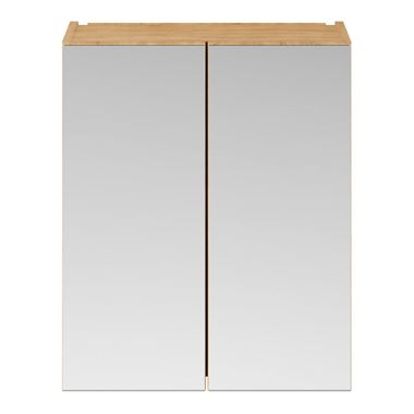 Drench Emily 600mm Mirror Cabinet - Natural Oak