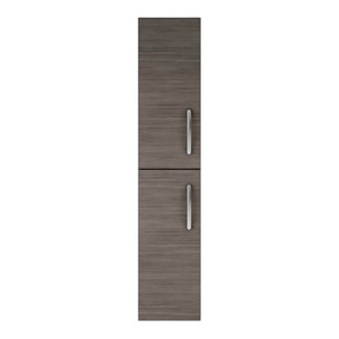 Drench Emily 2 Door Tall Floorstanding Storage Cupboard - Grey Avola
