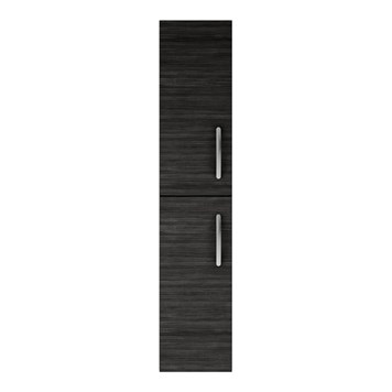 Drench Emily 2 Door Tall Floorstanding Storage Cupboard - Hacienda Black