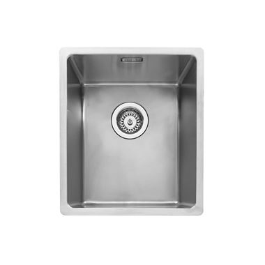 Caple Mode 1 Bowl Inset or Undermount Brushed Stainless Steel Sink & Waste Kit - 380 x 440mm