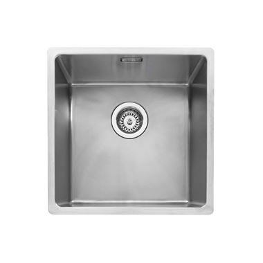 Caple Mode 1 Bowl Inset or Undermount Brushed Stainless Steel Sink & Waste Kit - 440 x 440mm
