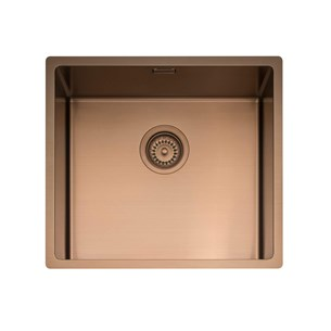 Caple Mode 1 Bowl Inset or Undermount Copper Brushed Stainless Steel Sink & Waste Kit - 490 x 440mm