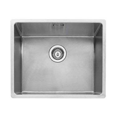 Caple Mode 1 Bowl Inset or Undermount Brushed Stainless Steel Sink & Waste Kit - 540 x 440mm