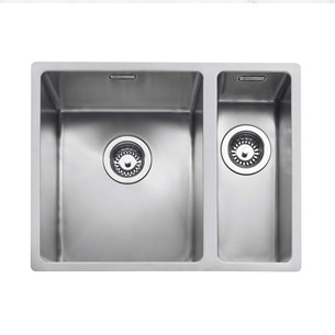 Caple Mode 1.5 Bowl Inset or Undermount Brushed Stainless Steel Sink & Waste Kit - 555 x 440mm