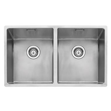 Caple Mode 2 Bowl Inset or Undermount Brushed Stainless Steel Sink & Waste Kit - 750 x 440mm