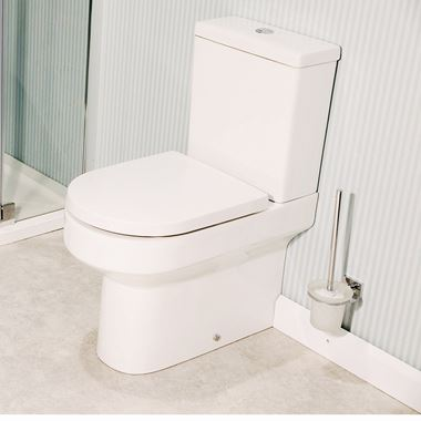Lark Fully Back to Wall Close Coupled Toilet with Dual Flush Cistern & Soft Close Seat
