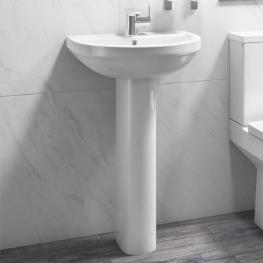 Vellamo Connect 500mm Full Pedestal & Basin