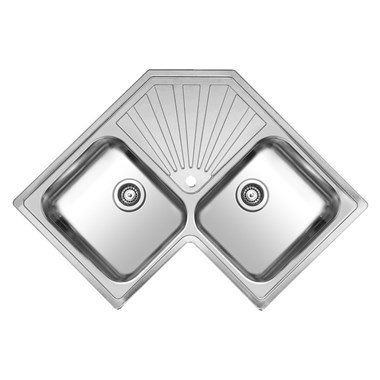 Reginox Montreal Double Bowl Stainless Steel Inset Sink & Waste with Drainer